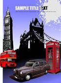 London images background Vector illustration