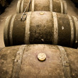 thumbnail of Wine barrels in cellar