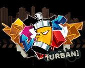 Cool graffiti obraz