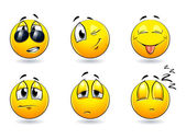 Set of pretty smiles-balls Vector illustration