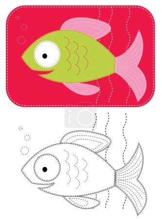 Постер, плакат: Vector cartoons fish , холст на подрамнике