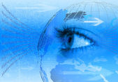Modré pozadí konceptu Internetu