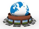 Az internet globális hálózat védett