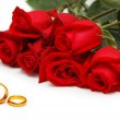 thumbnail of Red roses and rings isolated
