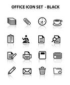 Reflect Office Icon Set (Black)
