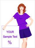 Promoter girl Vector illustration EPS 10