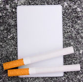 Cigarettes and card