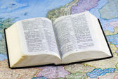 Open Bible on the map