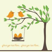 Birds family Vector