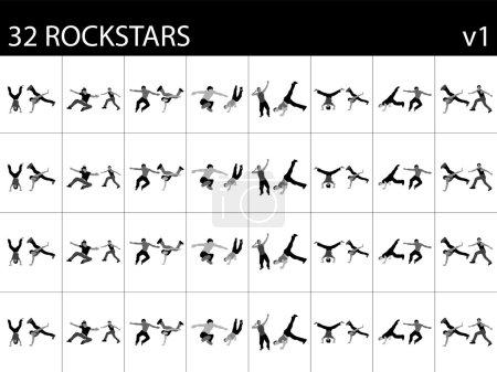 Постер, плакат: Rock performers, холст на подрамнике