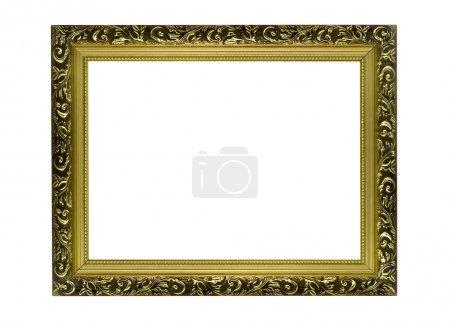 Empty Horizontal golden Frame