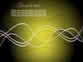 Olive green wave vector background; vector illustration