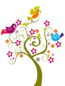 Abstract funny tree background vector illustration