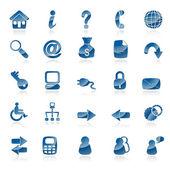 A set of 25 common web icons