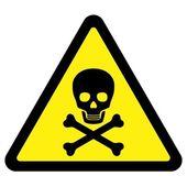 Tödliche Gefahr-Zeichen