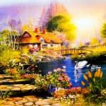 Постер, плакат: Landscape painting