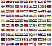 Gyűjtemény a zászlók körül a worl