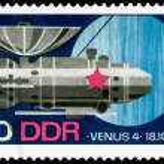 Постер, плакат: Vintage postage stamp Venus 4