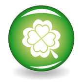 Glossy button with quatrefoil for st Patrick's day