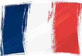 Vlajka Francie grunge