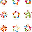 Abstract icons and  logos - 6