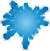 Halftone splatter (halftone design element set)