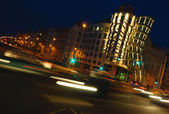 Traffic lights. Motion blur