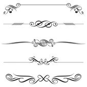 Vector file of horizontal elements decoration design