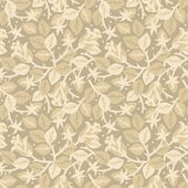 Easy tilable (you see 4 tiles) blooming rosebush floral seamless repeat pattern (print background wallpaper) of pastel beige colors
