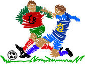 Absztrakt futballista