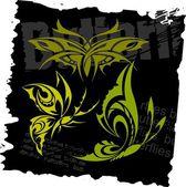 Tribal Butterflies - Set 17 Vector Illustration Ready for Vinyl Cutting