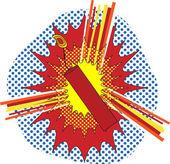 TNT Dynamate in a pop art cartoon explosive style