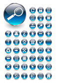 Web icons for business and office blue aqua vector