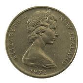 Queen Elizabeth II on a coin