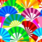Vector seamless background with vivid fan