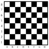 Chessboard with letters and numbers