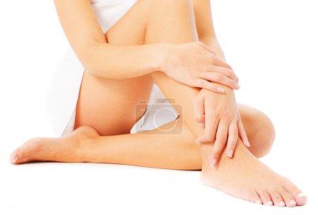 Close Up of Legs Being Massaged