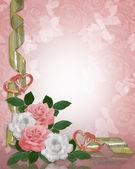 Rózsa rózsaszín határ fehér