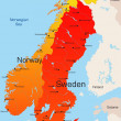 thumbnail of Norway and Sweden map