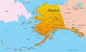 Vector color map of Alaska state Usa