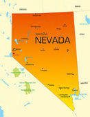 Vector color map of Nevada state Usa