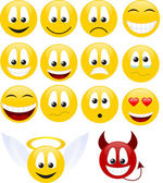 Collection of smiles Vector illustration