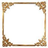 Abstract golden floral frame concept