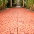 thumbnail of Red Brick Path to Fountain in Distance