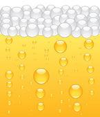 Beer bubbles background Vector illustration