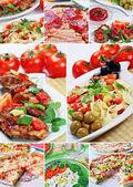 Beautiful collage food