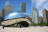 Il cloud gate scultura aka il fagiolo, Millenium park, chicago, illinois