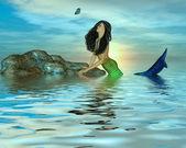Mořská panna a motýl