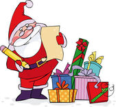 Santa kontrola jeho seznam