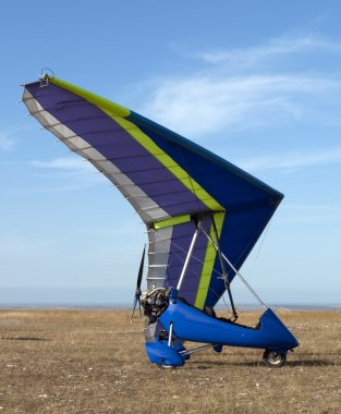 Blue hang-glider